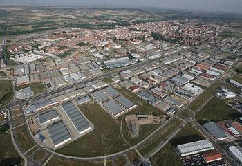 vista aerea poligono industrial palencia