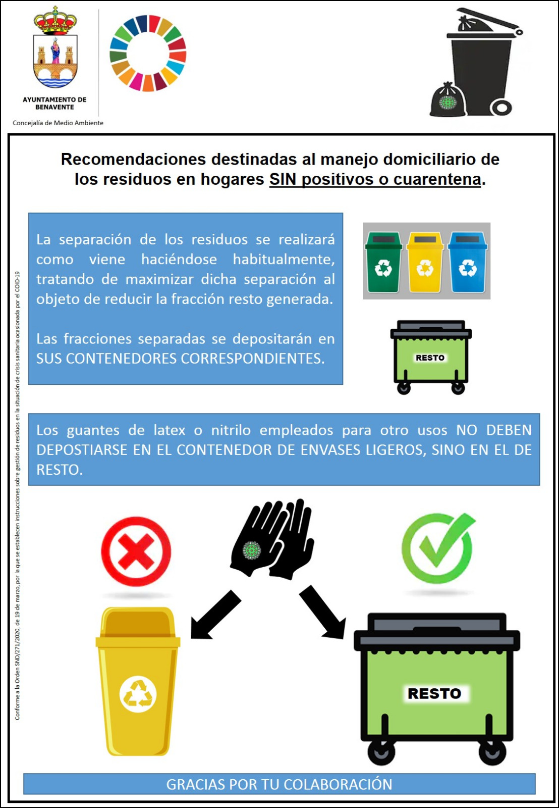 Residuos sin coronavirus